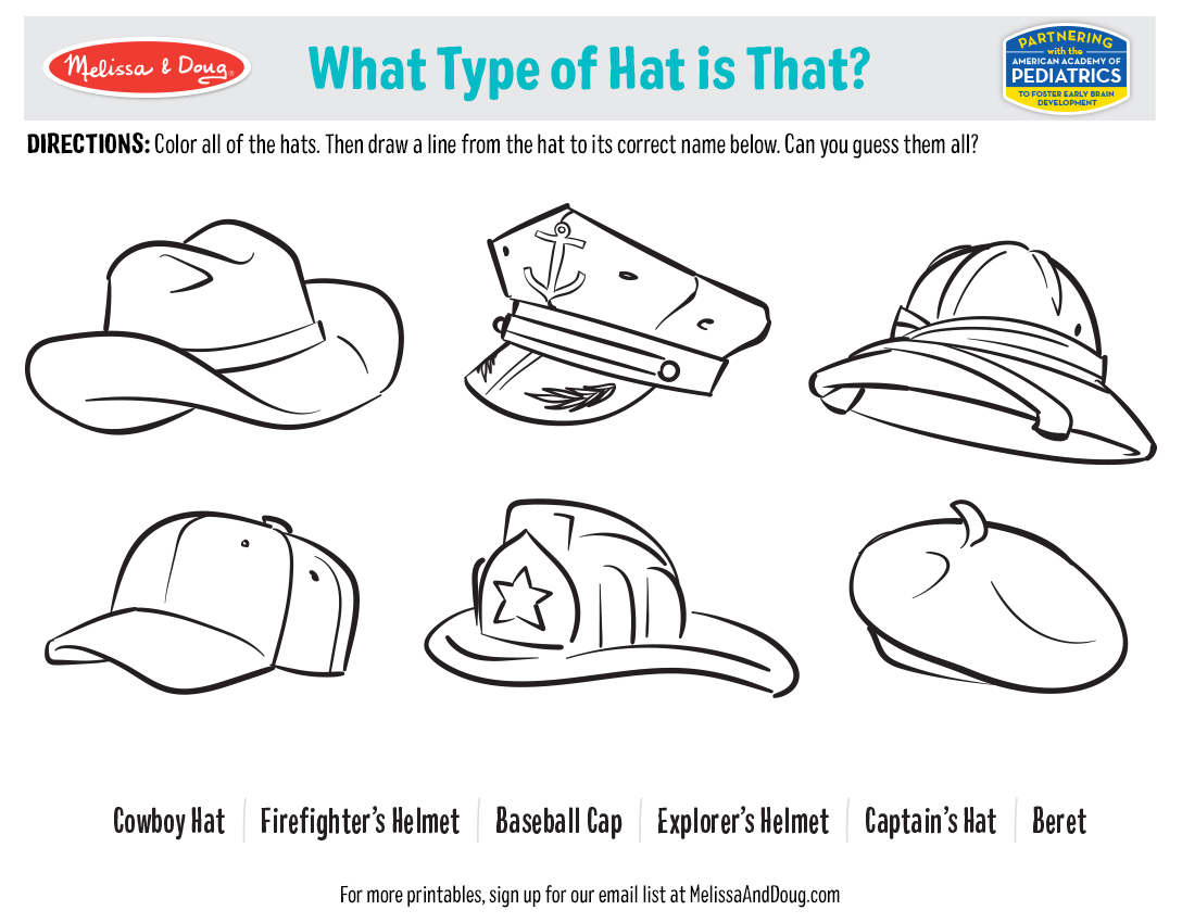 Hat Day Printables - What Type of Hat Is That?