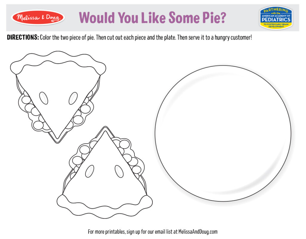 Printable - Would You Like Some Pie?