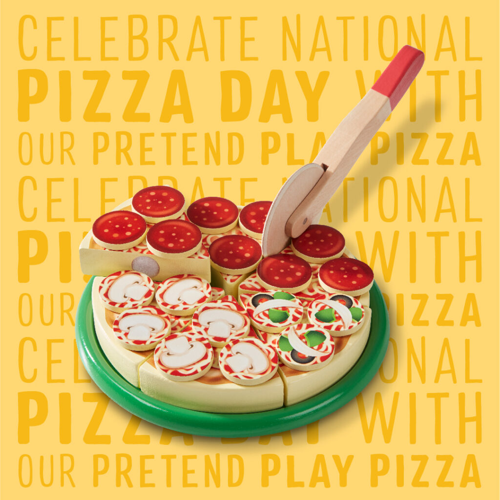 Celebrate Pizza Day with our pretend play pizza toys!
