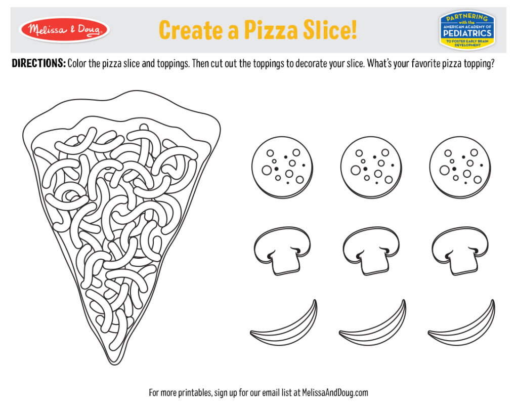Printable - Create a Pizza Slice!