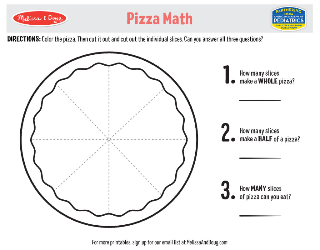 Printable - Pizza Math Activity
