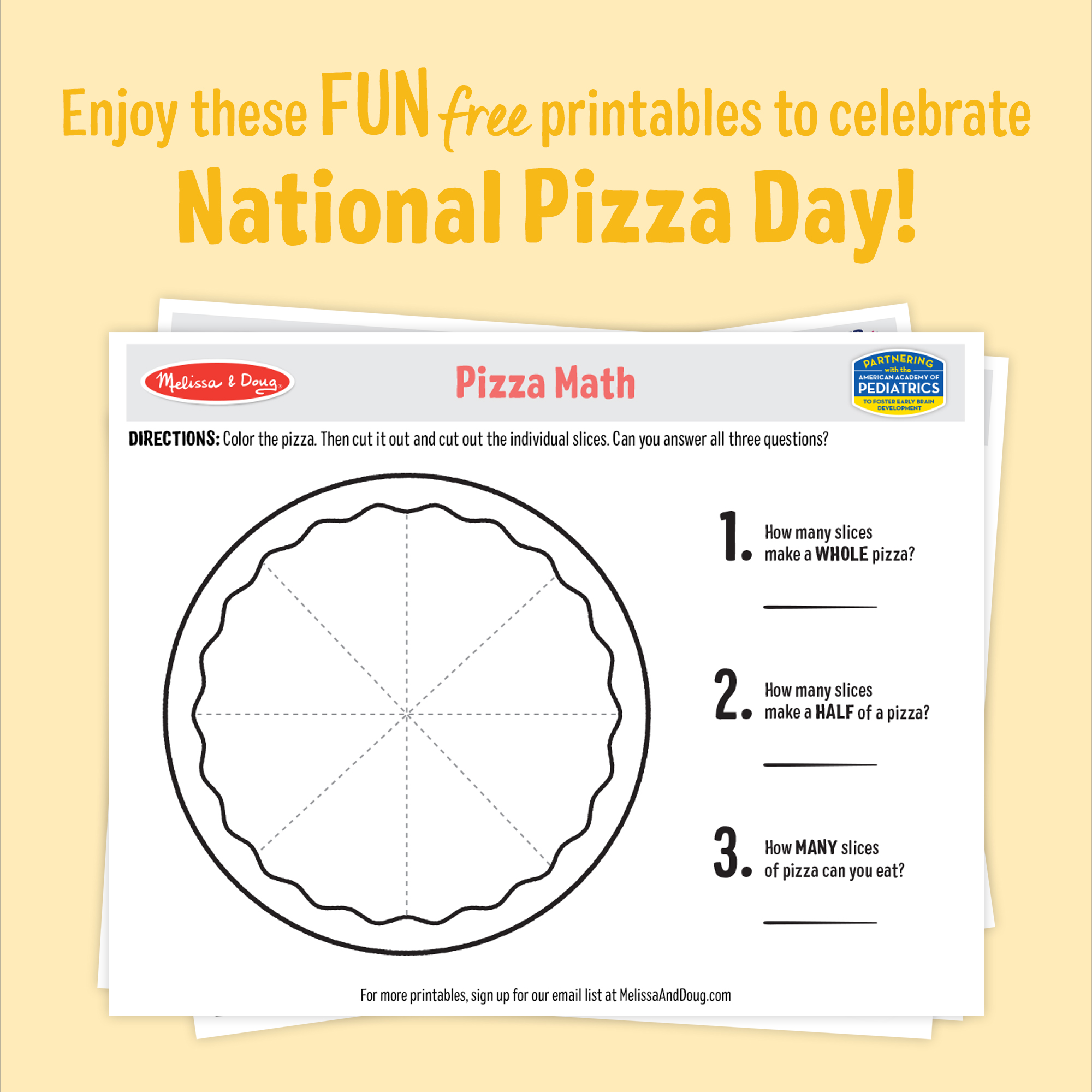 3 Pizza Day Printables and Activities for Kids of All Ages!