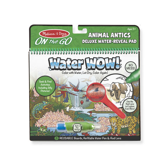 Melissa & Doug Water Wow Animal Antics Deluxe Water Reveal Pad