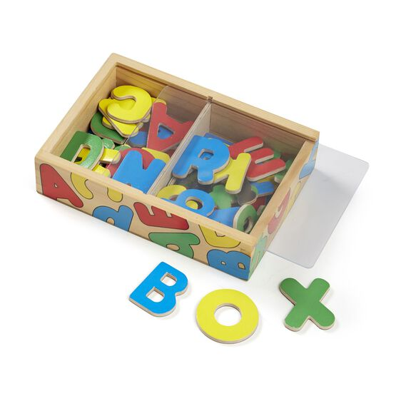Melissa & Doug Wooden Letter Alphabet Magnets