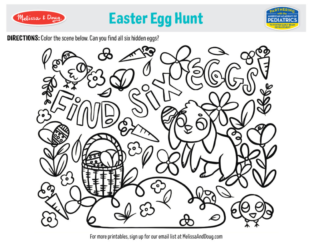 Printable - Easter Egg Hunt Activity