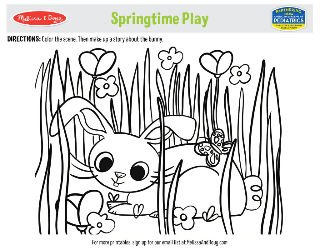 Printable - Springtime Play Activity