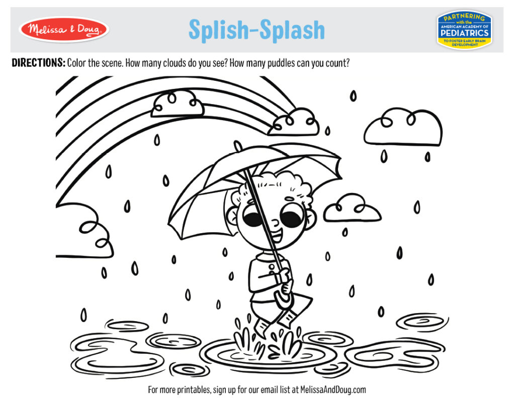 Printable - Splish-Splash Activity
