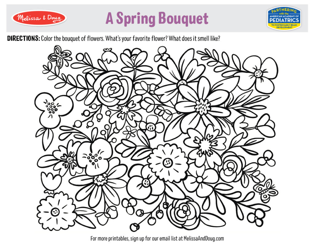 Printable - A Spring Bouquet Activity