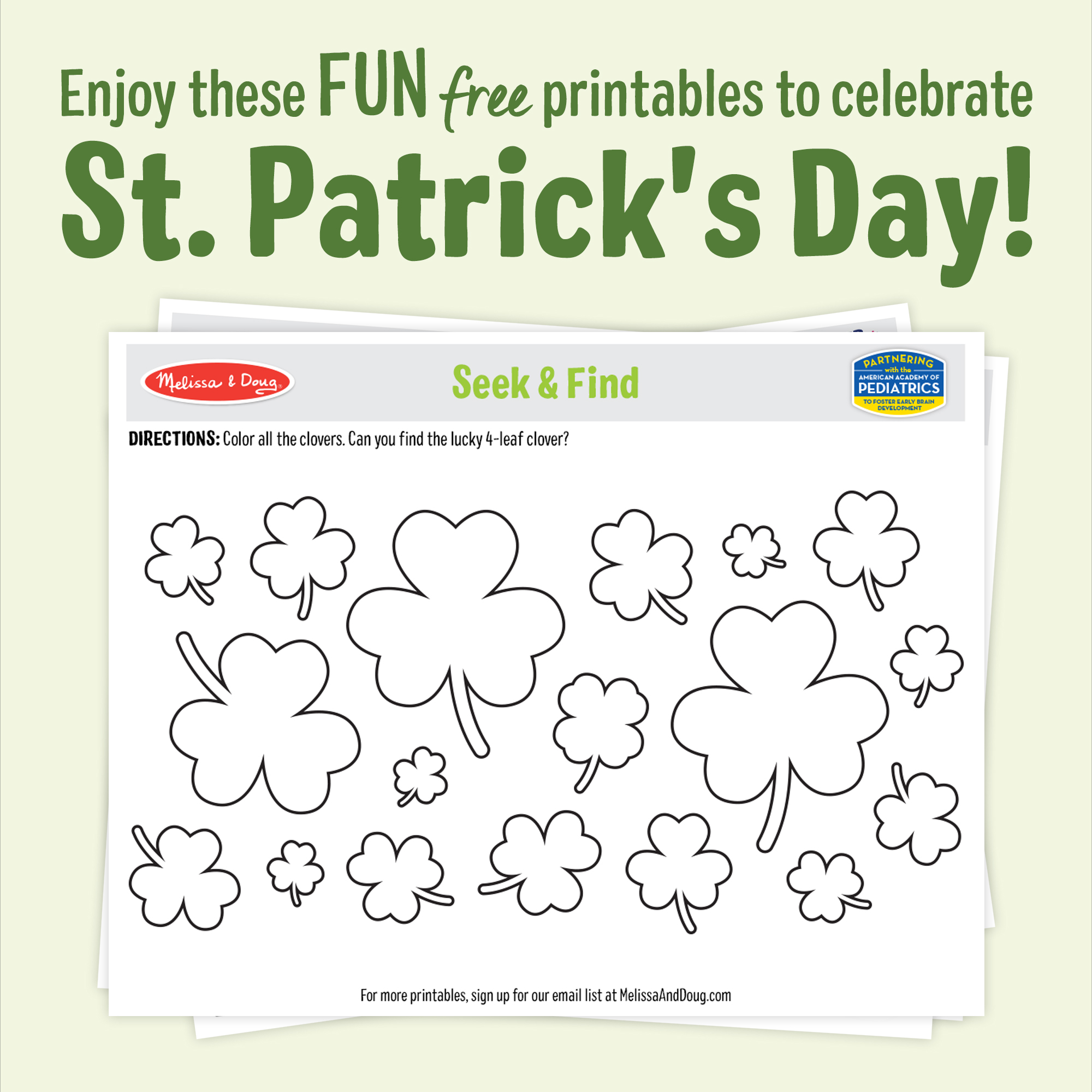 3 Lucky & Fun St. Paddy's Day Printables for Kids