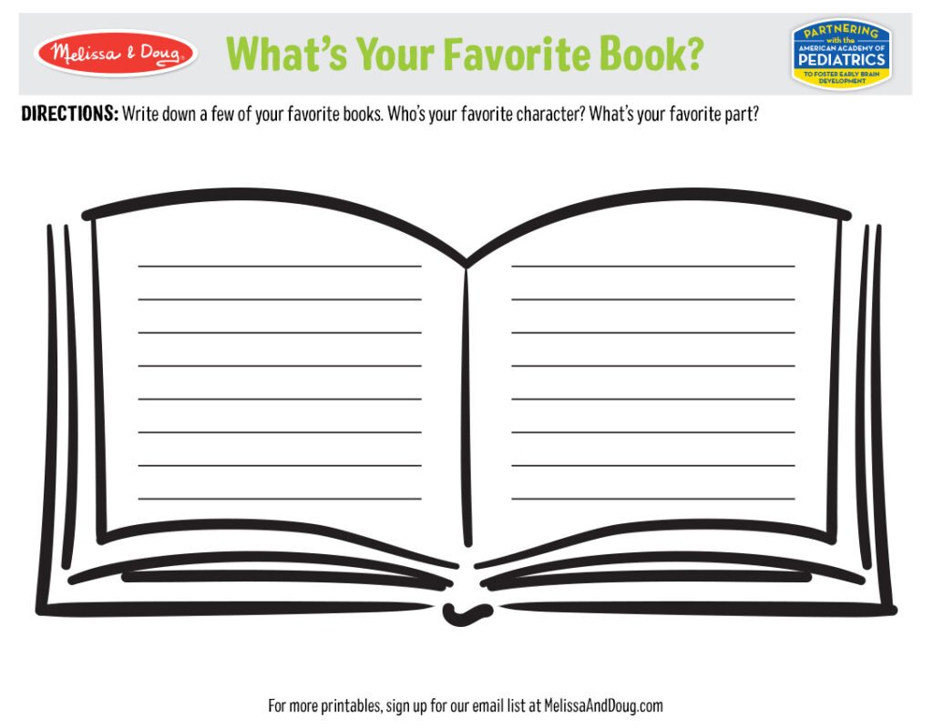 Printable - What's Your Favorite Book? Activity