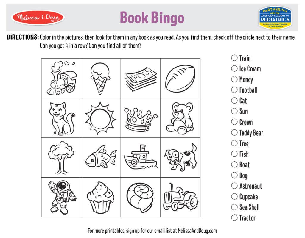 Printable - Book Bingo Activity