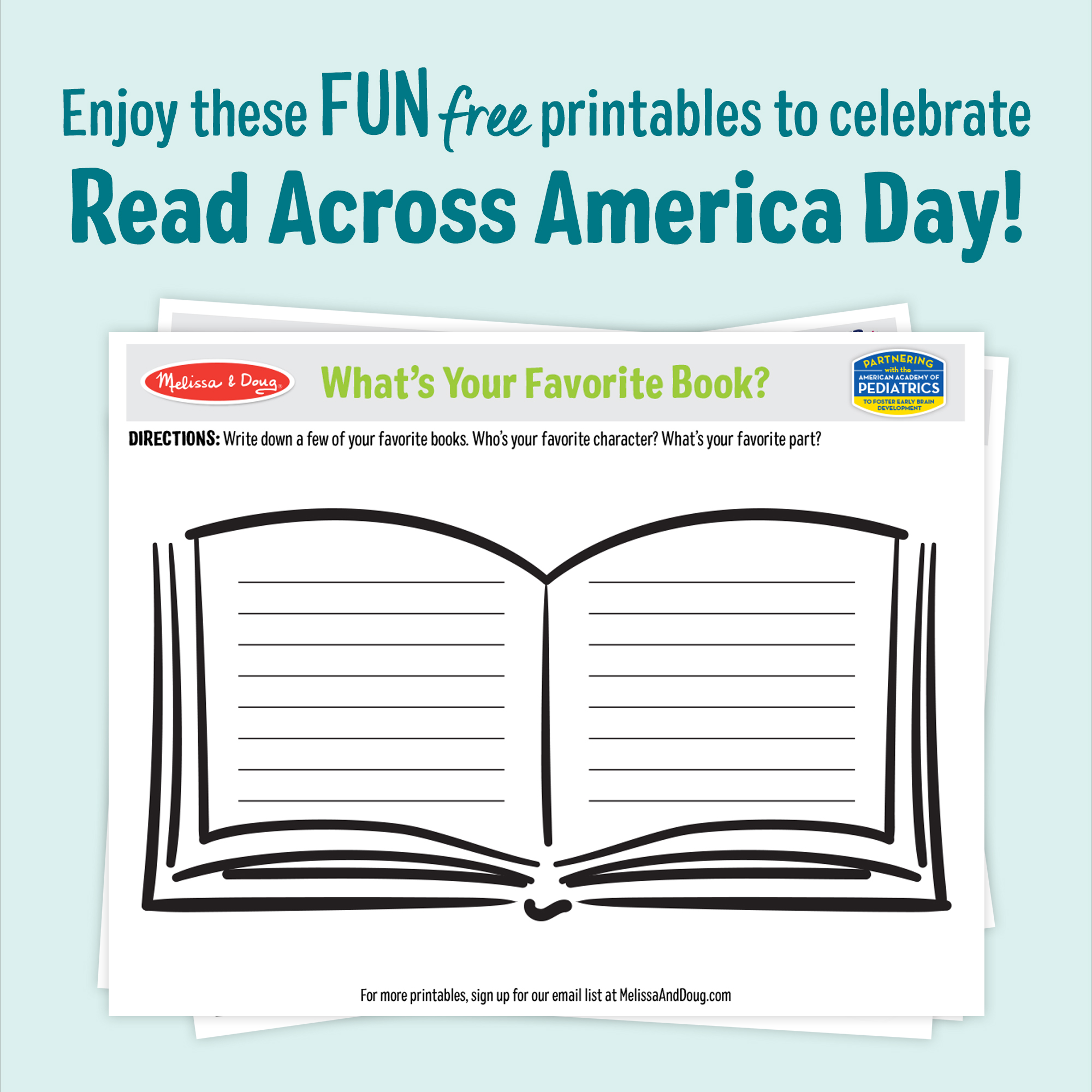 3 Free Printables for Read Across America Day