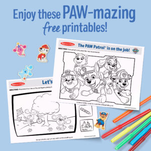 10 Free PAW Patrol and Blue's Clues & You! Printables