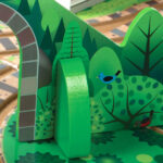 Melissa & Doug Tabletop Train toy featuring wooden trees