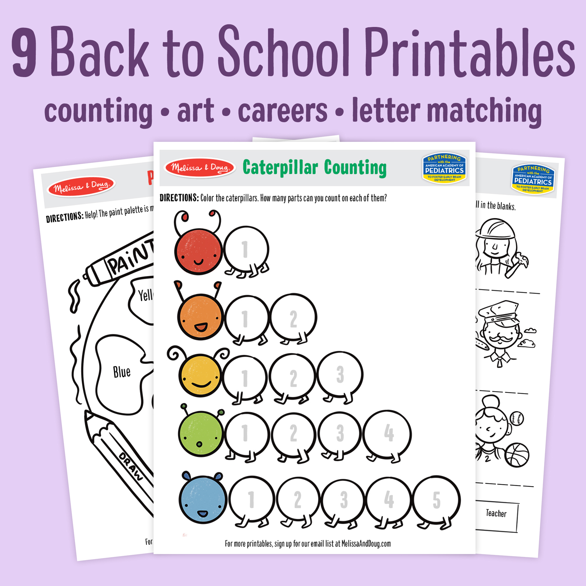 9 Free Back to School Printables for Kids