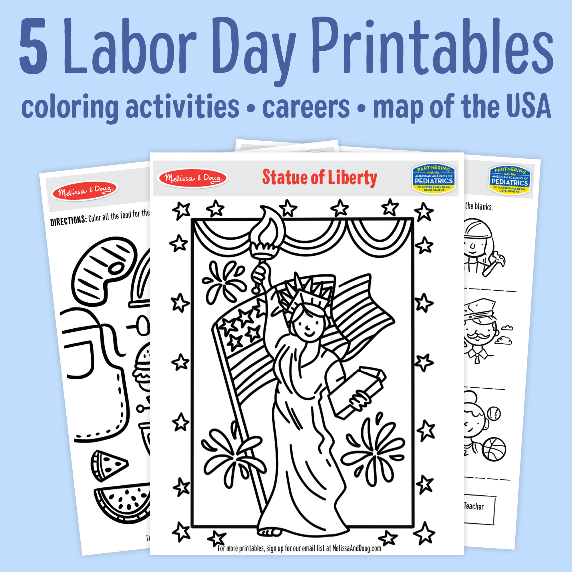 5 Free Labor Day Printables for Kids of All Ages