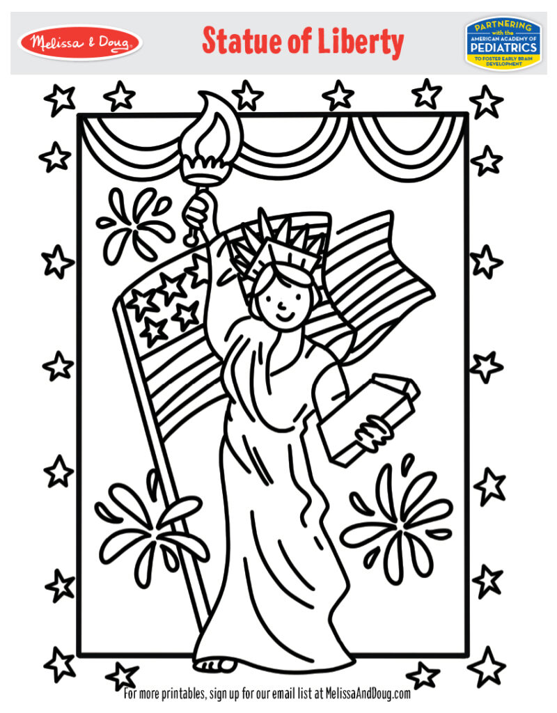 Printable - Statue of Liberty Coloring Activity