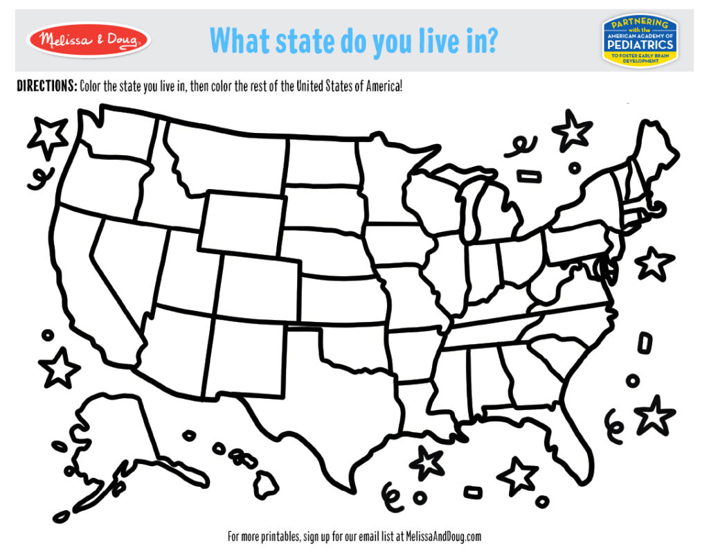 Printable - What State Do You Live In Activity