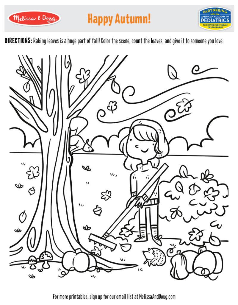 Printable - Happy Autumn! Coloring Activity