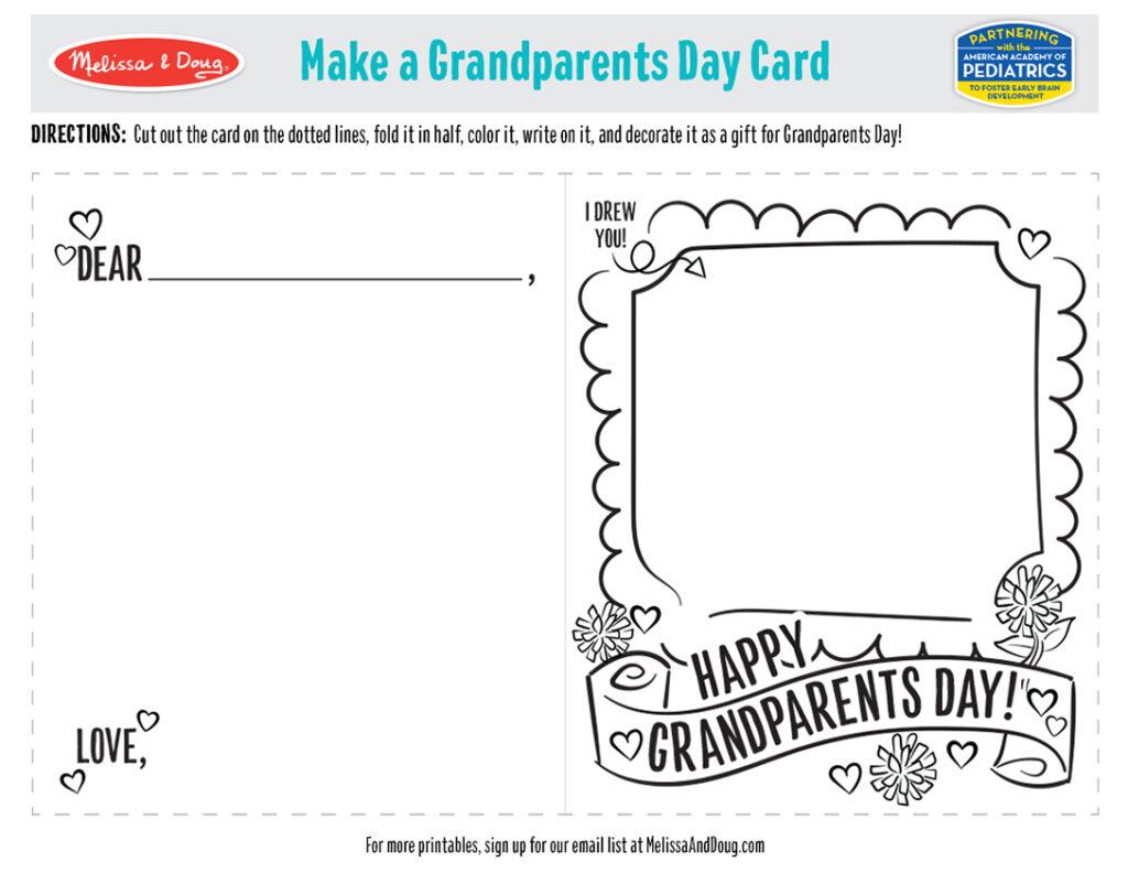 Printable - Grandparents Card Activity