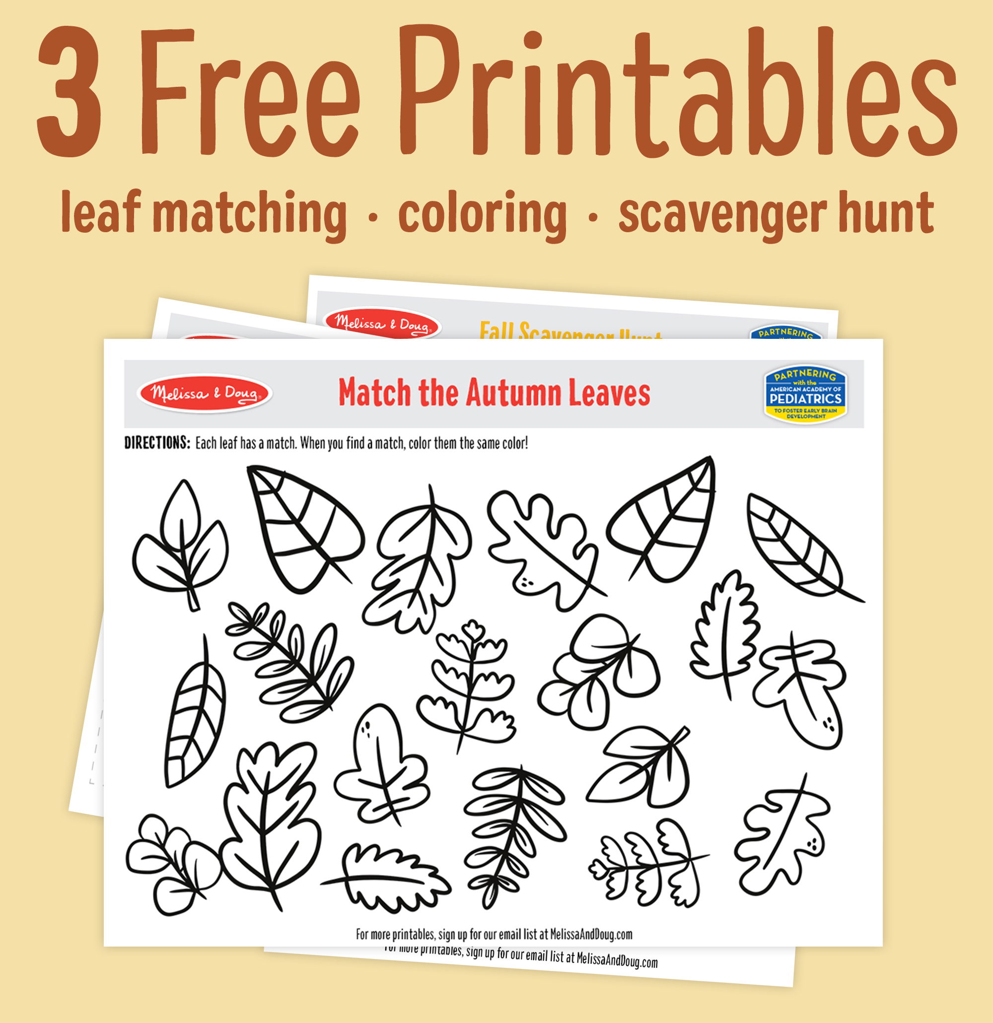 3 Fall Printables for Kids of All Ages