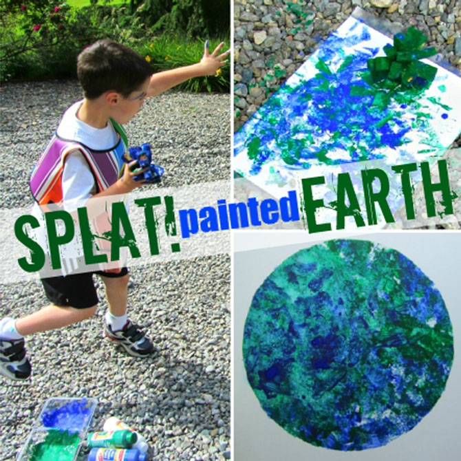 Splat-Painted Earth Craft: Big Messy Art for Kids!
