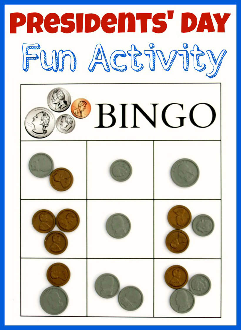 photo regarding Money Bingo Printable titled Presidents Working day Bingo Video game Printable for Youngsters