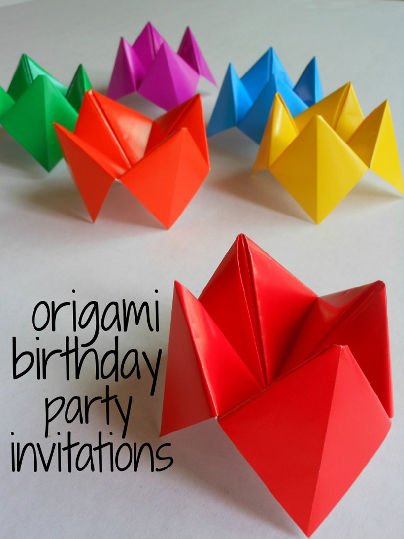 DIY Origami Birthday Invitation Craft for Kids *Learn how boys and ...