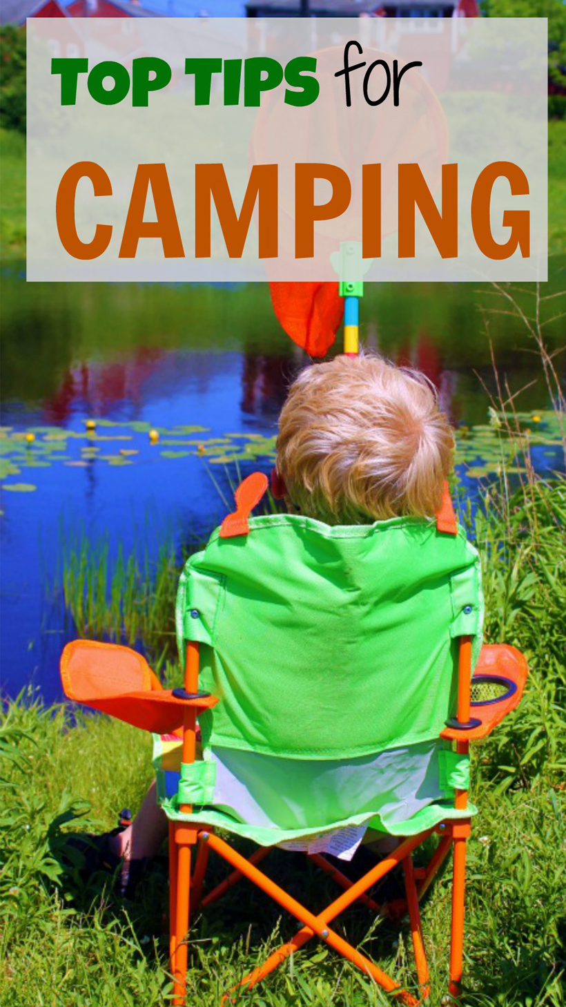 TOP TIPS for Camping with Kids: A Round-Up for Family Camping Fun! *Find loads of family-tested tips and ideas to help you create a memorable family camping adventure, on the Melissa & Doug Blog.