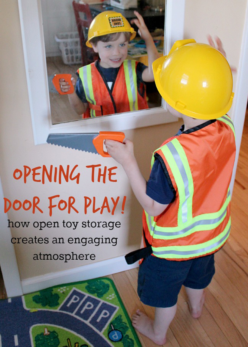 How Open Toy Storage Invites Our Children to Play *Read some benefits of open toy storage and how it can encourage imagination in children, on the Melissa & Doug Blog.