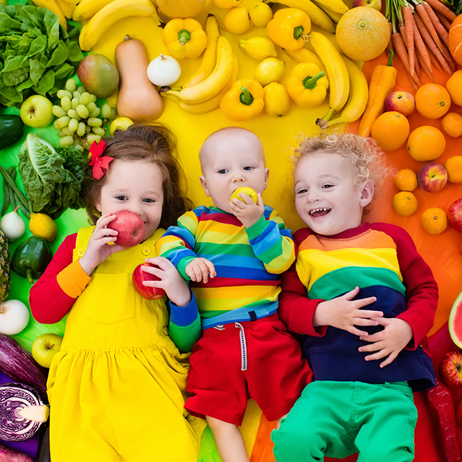 Getting kids to eat a rainbow of healthy foods!