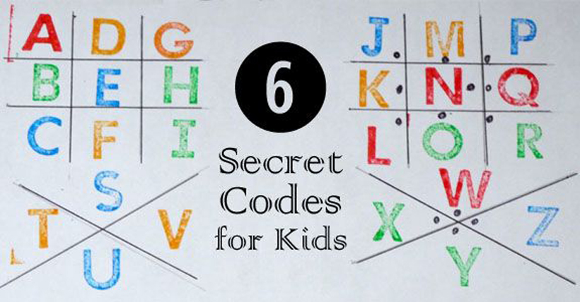 6 secret code activities and ideas for kids | melissa & doug blog