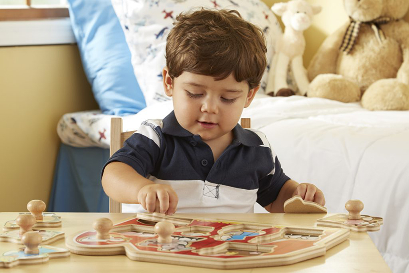 boy and puzzle