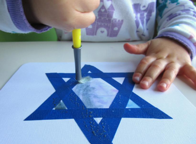 toddler hanukkah craft toddler painting