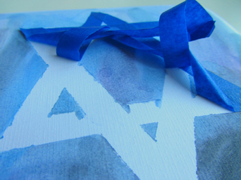 toddler hanukkah craft peeling tape back