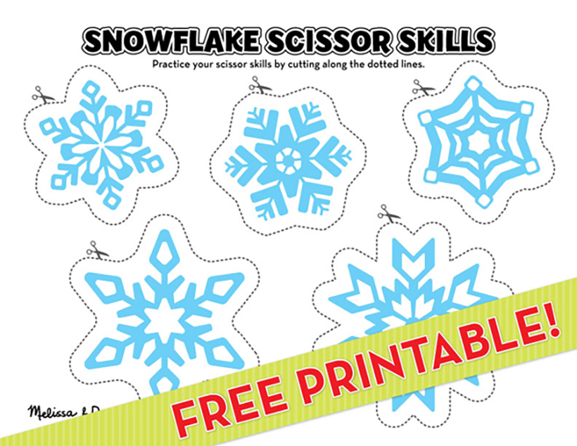 photograph regarding Snowflake Printable called Snowflake Scissor Expertise: Printable A lot more! Melissa Doug
