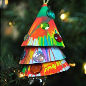 Spin Art Ornaments