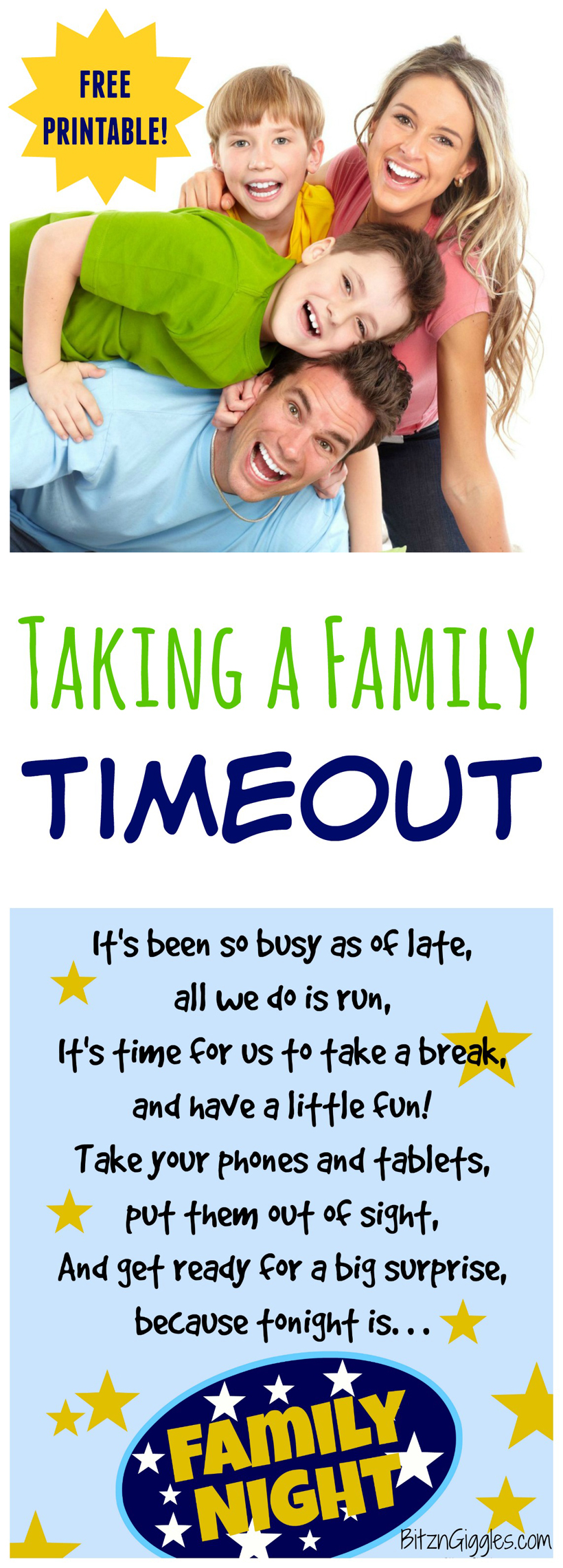 Taking a Family Timeout Family Night
