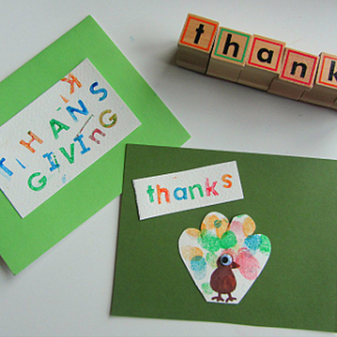 Thanksgiving Thank You Cards: A Simple Lesson in Gratitude