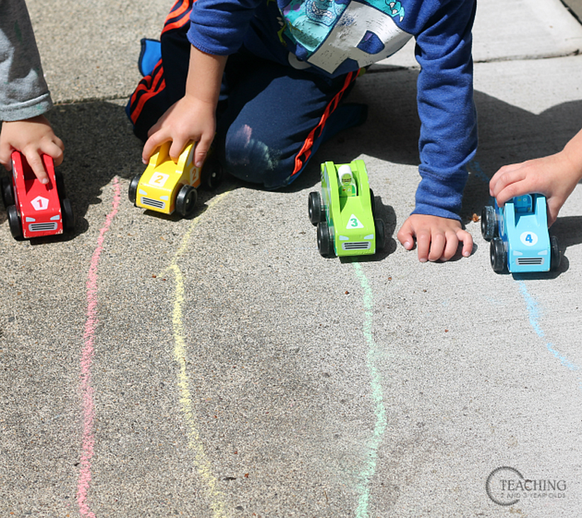 toddler race car counting on your mark