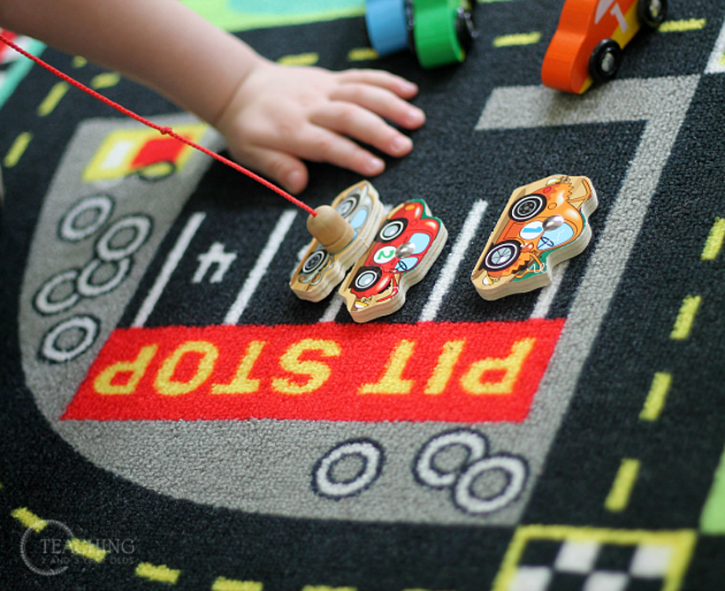 toddler race car counting parking magnetic car 3