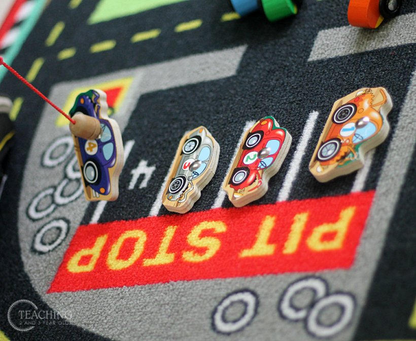 toddler race car counting parking magnetic car 4