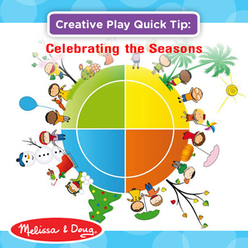 celebrating the four seasons with kids infographic