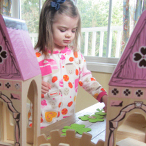 Princess Castle Gold Hunt and Number Match Activity