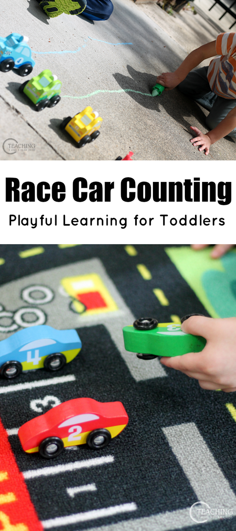 Toddler Race Car Counting