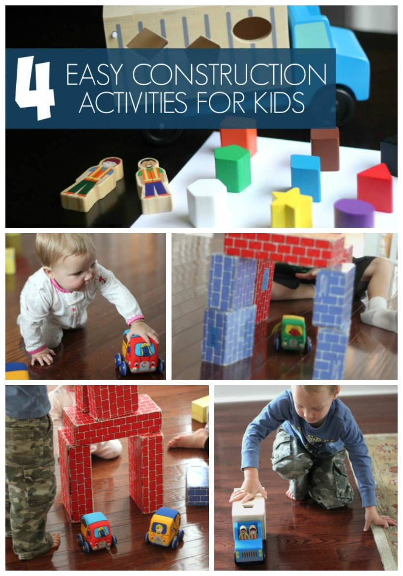 4 Easy Construction Activities for Kids Pin