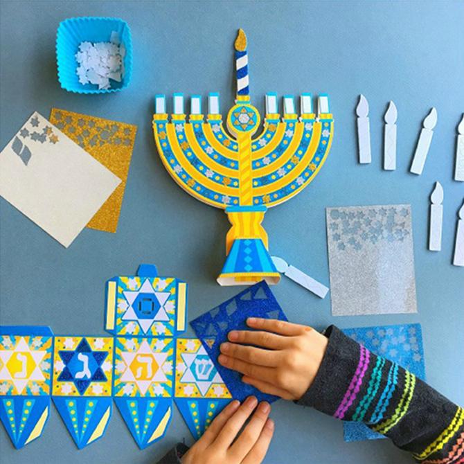 A Glittery Hanukkah Craft for Kids