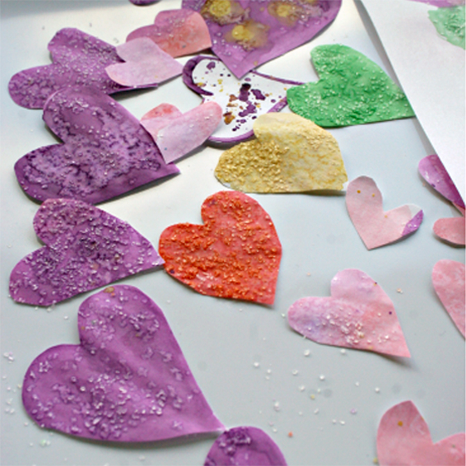 Water Color Heart Card Craft