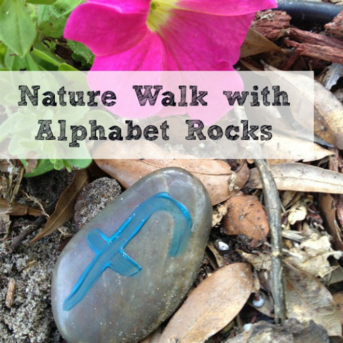 Nature Walk with Alphabet Rocks