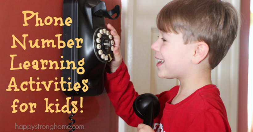 Phone Number Learning Activities for Kids